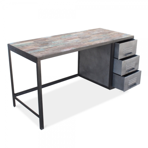 Escritorio de Metal Reciclado & Madera | Cult Furniture ES