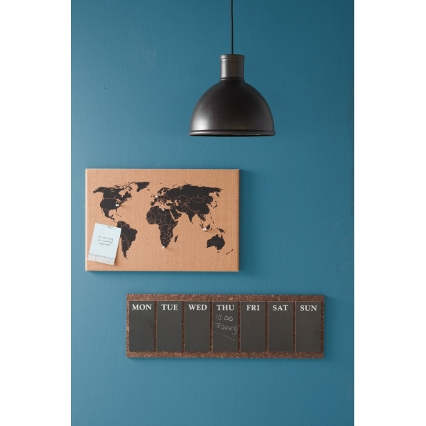 Tablero de corcho con mapa del mundo de present time accesorios present time world map wall cork board with pins gumiabroncs Images