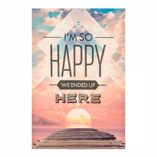 "Cult Living Poster con mensaje ""Happy"""