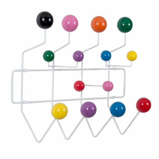 Eames Inspired Hang It All - Blanco con bolas multicolor