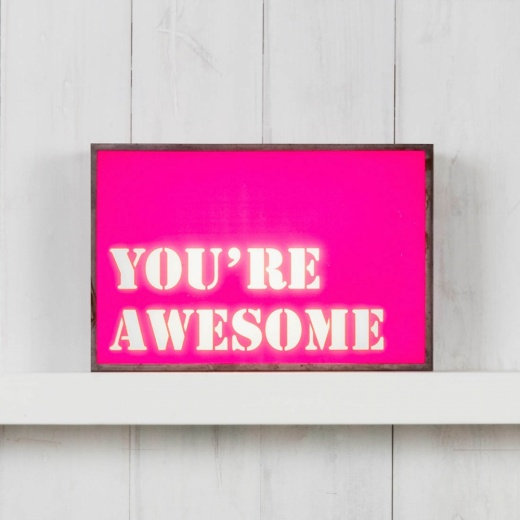 Cult Living Inserción para Lightbox - You're Awesome