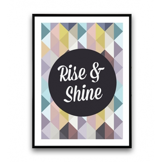 """Cult Living Poster Geométrico """"Rise and Shine"""""""