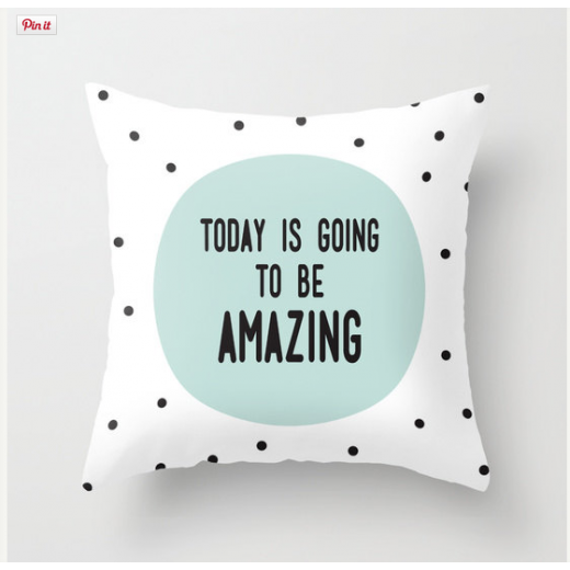 "Cult Living Cojín ""Today is going to be Amazing"" - Blanco"