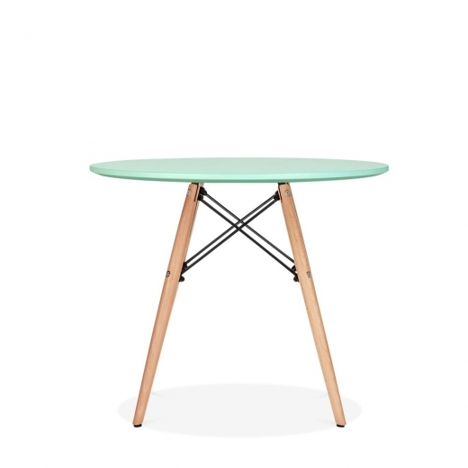 Scandi Designs DSW Kids Round Dining Table, Peppermint  60cm