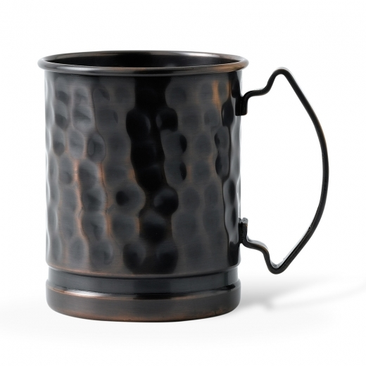 Home Features Solid Copper Mug Dented in Antique