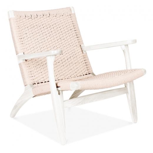 Danish Designs Silla CH25 - Blanco / Asiento en Natural