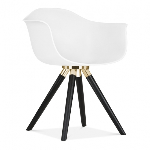 Cult Furniture ES Silla Moda CD2 con reposabrazos de Cult Design en Blanco | Cult ES