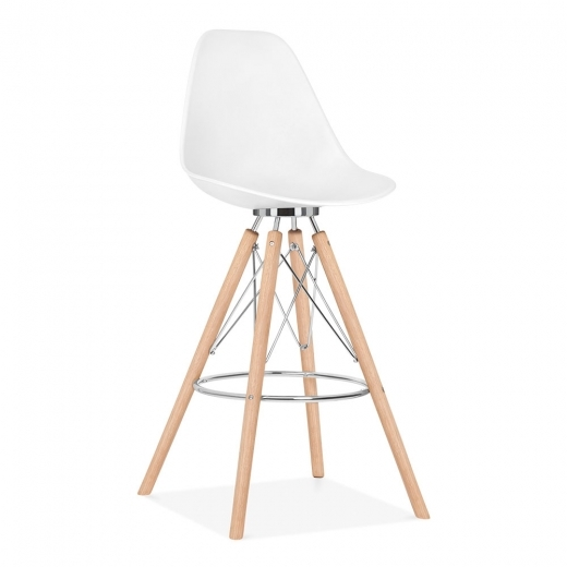 Cult Design Taburete de Bar con Respaldo Moda CD3 - Blanco