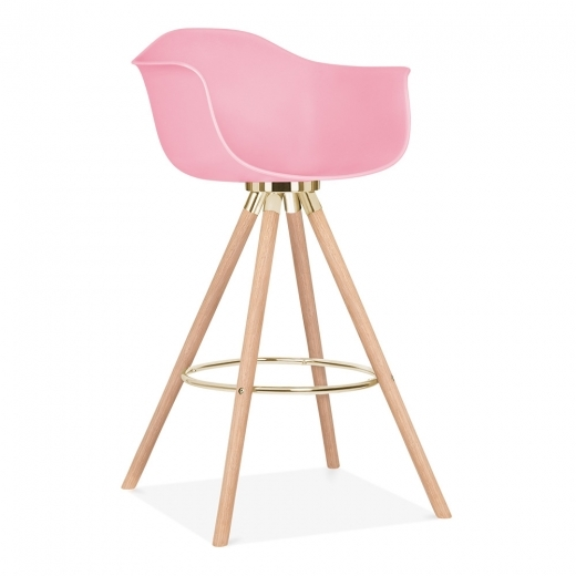 Cult Studio Taburete de Bar Moda con Reposabrazos CD2 - Rosa Chicle 74cm