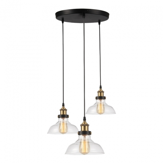 Cult Living Factory Lámpara Colgante de Cristal Triple - Opción de Color