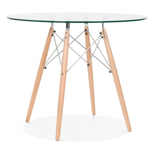 Iconic Designs DSW Glass Dining Table - 90cm Diameter