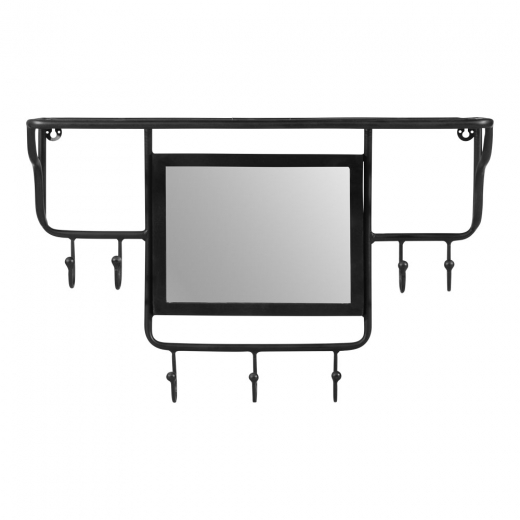 Cult Living Estantes de Pared Avery, Almacenaje de Pasillo, Metal Negro