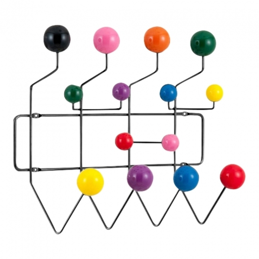 Scandi Designs Perchero 'Hang It All (Cuélgalo todo)' con bolas Multicolores, Negro
