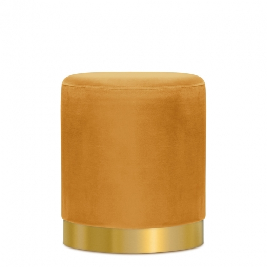 Cult Living Marie Tall Stool, Velvet Upholstered, Mustard