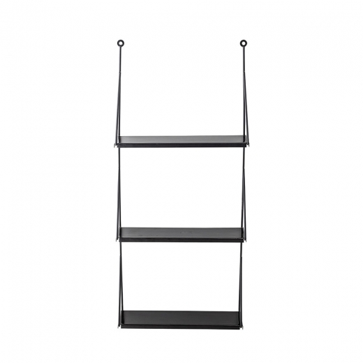 Cult Living Metal 3 Tier Wall Shelf, Black