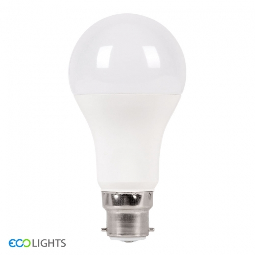 ECO Lights Bombilla LED Regulable 9W SMD B22 A60 Equivalente 75W Blanco Natural 4500K