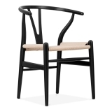 Silla Wishbone - Negro / Natural