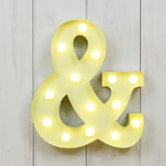 Mini Letras Luminosas LED 28cm & - Elección de Color