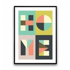 Geometric Graphic Abstract Art Print