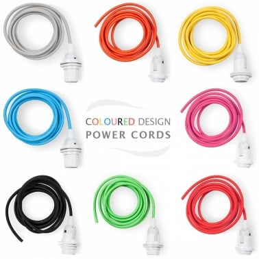 Cable de colores con portalámparas E14 2.5m