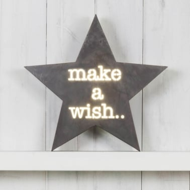 Lightbox Mini Estrella - Make A Wish
