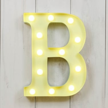 Mini letras luminosas LED 28cm B - La elección de color