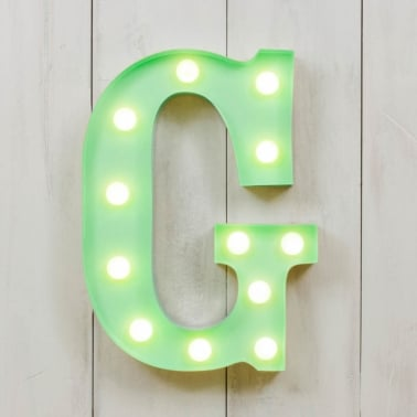 Mini Letras Luminosas LED 28cm G - Elección de Color