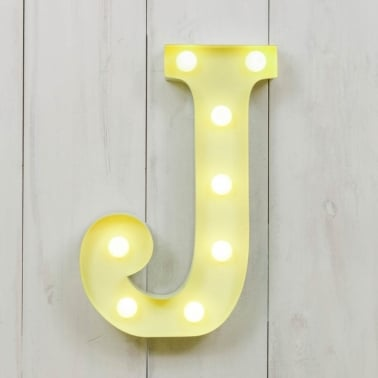 Mini letras luminosas LED 28cm J - La elección de color
