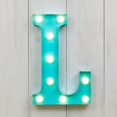 Mini letras luminosas LED 28cm L - Elección de Color