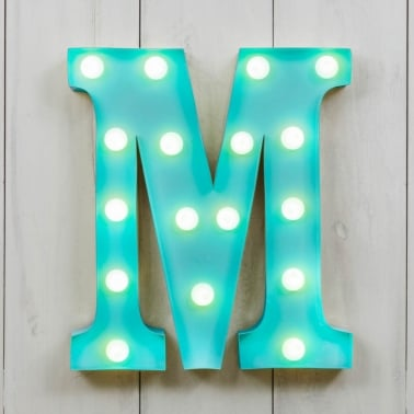 Mini letras luminosas LED 28cm M - Elección de Color