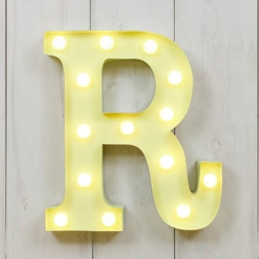 Mini letras luminosas LED 28cm R - Elección de Color