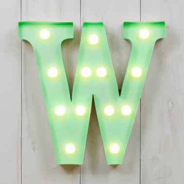 Mini Letras Luminosas LED 28cm W - Elección de Color