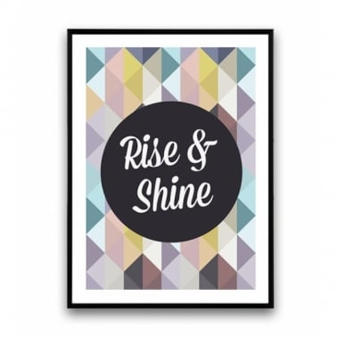 "Poster Geométrico ""Rise and Shine"""