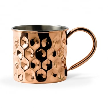 Solid Copper Dented Mug