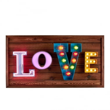 Bombilla LED LOVE Panel de Pared Colgante