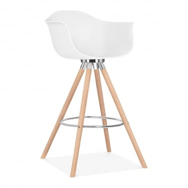 Taburete de Bar Moda con Reposabrazos CD2 - Blanco 74cm