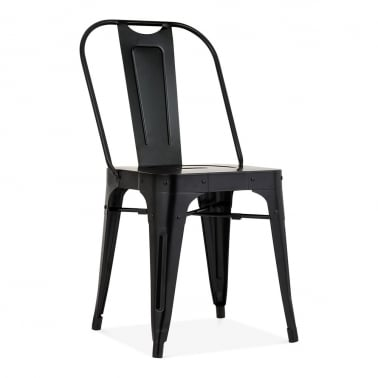 Silla de Comedor de Metal Shoreditch, Negro
