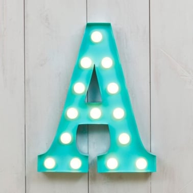 Mini letras luminosas LED 28cm A - Elección de Color