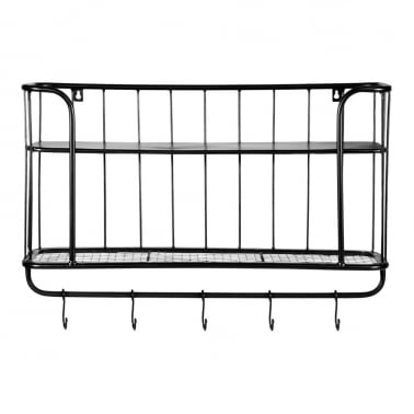 Metal Wall Hanging Shelving Unit, Small