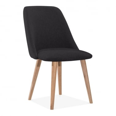 Primrose Dining Chair, Fabric Upholstered, Black