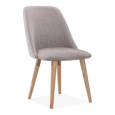 Primrose Dining Chair, Fabric Upholstered, Light Grey