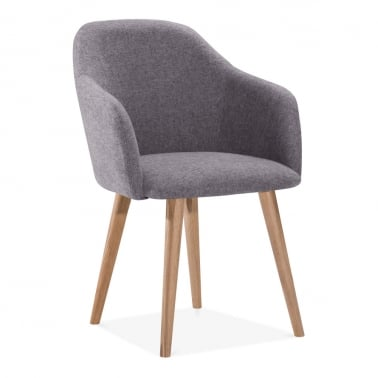Primrose Dining Armchair, Fabric Upholstered, Grey