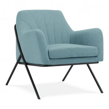 Bailey Accent Armchair, Fabric Upholstered, Blue