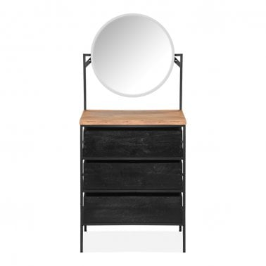 Newell Dressing Table with Mirror, Black