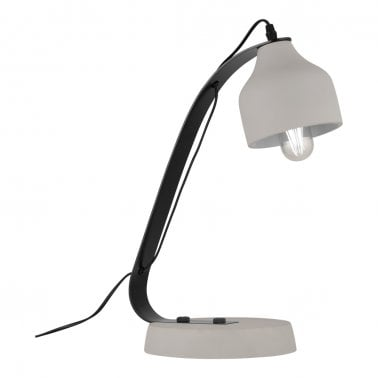 Dara Table Lamp, Black and White