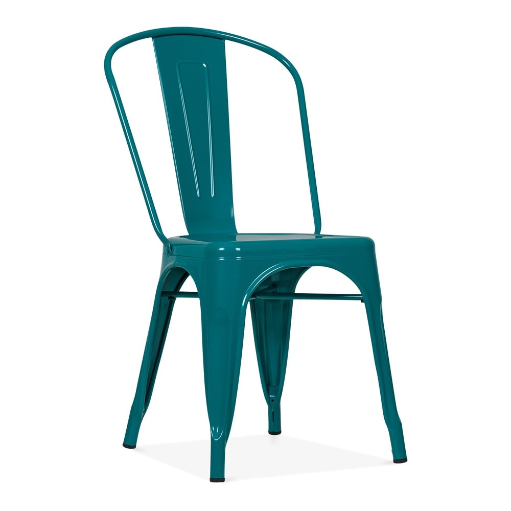 Tolix Style Teal Side Chair | Bistro Chairs by Cult UK